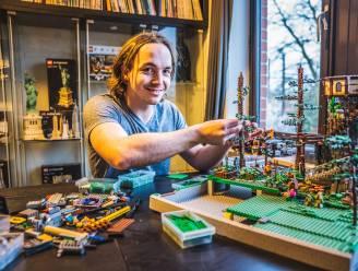 """Julien (26) dingt mee naar de titel van LEGO Master: """"Het gebeurt dat ik maanden niets bouw, maar dan weer dagenlang 5 tot 7 uur in mijn LEGO kamer zit"""""""