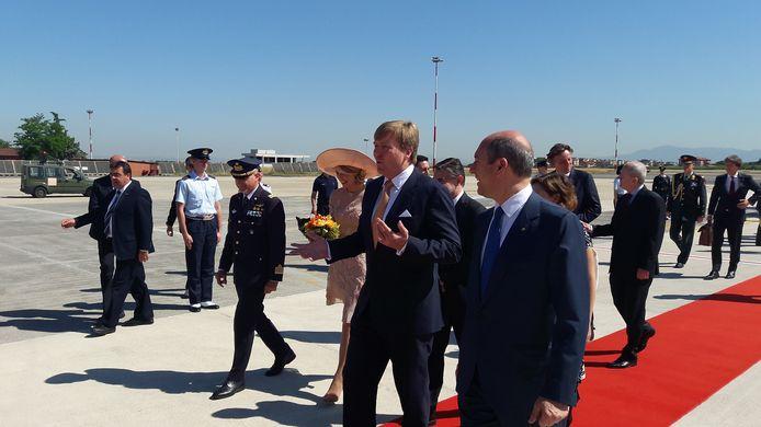 Aankomst van Willem-Alexander en Máxima in Rome.
