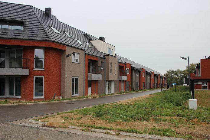 De sociale woonwijk langs de Ninovestraat in Burst.