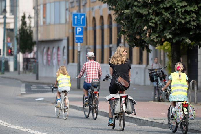 De Antwerpse binnenstad was zondag voor de negentiende keer autoluw tijdens 'Antwerpen Shift'.