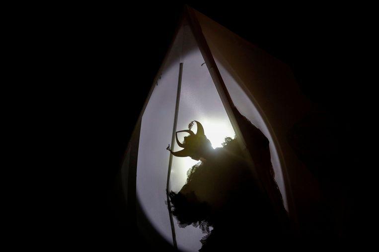 De Franse artieste Annette Messager op 'Nuit Blanche'. Beeld AFP