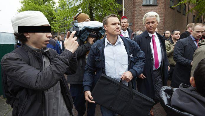 Wilders in de Haagshe Schilderswijk vorig jaar.
