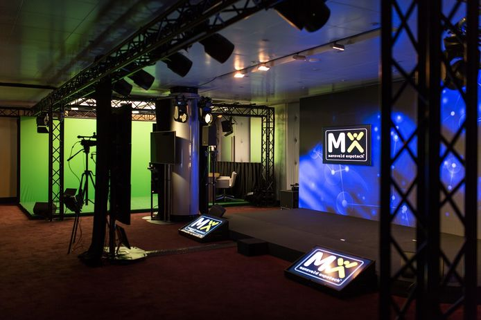 Mansveld Expotech Projects heeft een studio ingericht van waaruit digitale evenementen kunnen worden verzorgd.