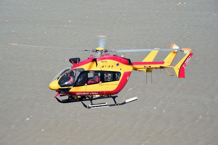 Een Franse reddingshelikopter. Archiefbeeld. Beeld AFP