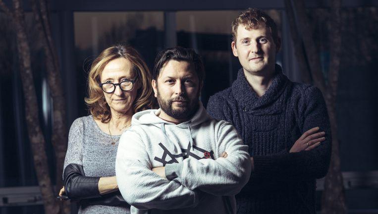 Véronique Sels, Koenraad Lefever en Dries De Wilde. Beeld Joris Casaer