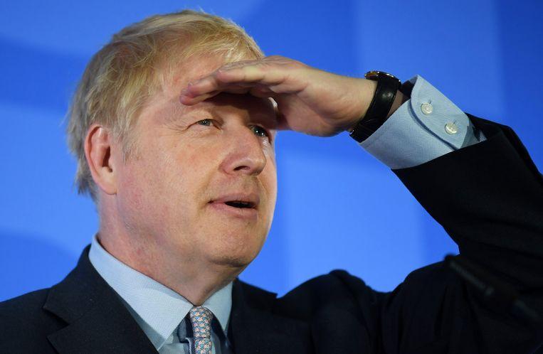 Boris Johnson is mogelijk de opvolger van Theresa May. Vandaag houden de Britse Conservatieve parlementsleden hierover de eerste stemronde. Beeld EPA