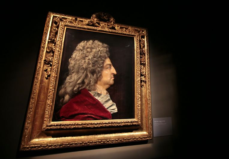 Een schilderij van de Franse koning Louis XIV.