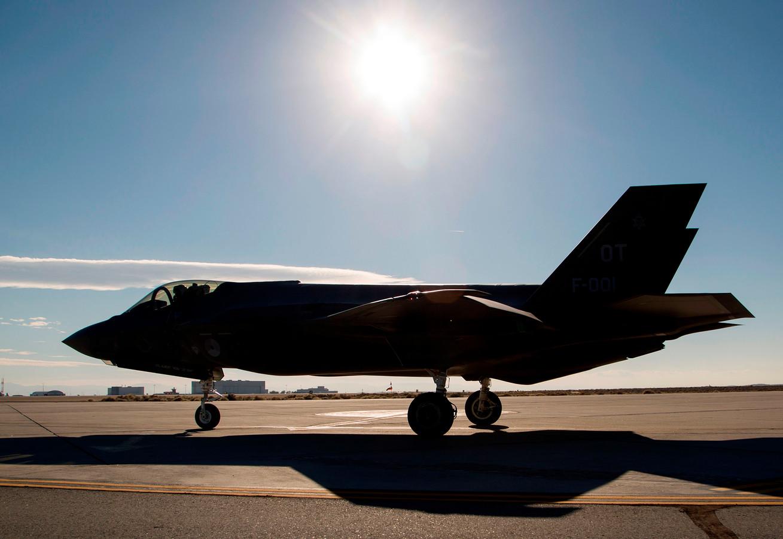 Een F-35 op de luchtmachtbasis Edwards in Californië.