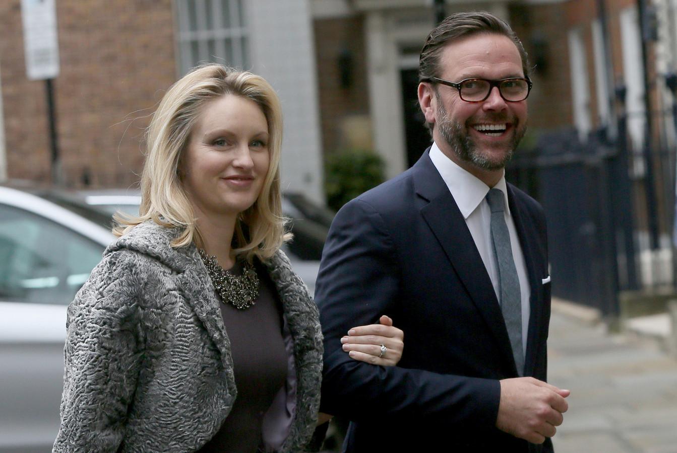 James Murdoch en zijn vrouw Kathryn Murdoch.