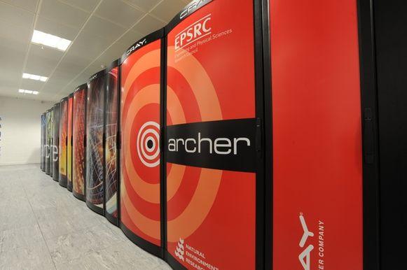 De supercomputer Archer, kort voor Advanced Research Computing High End Resource, van de univeriteit van Edinburgh.
