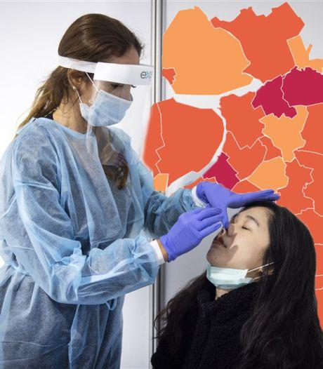 KAART | Aantal nieuwe positieve coronatests iets gedaald in Oost-Nederland
