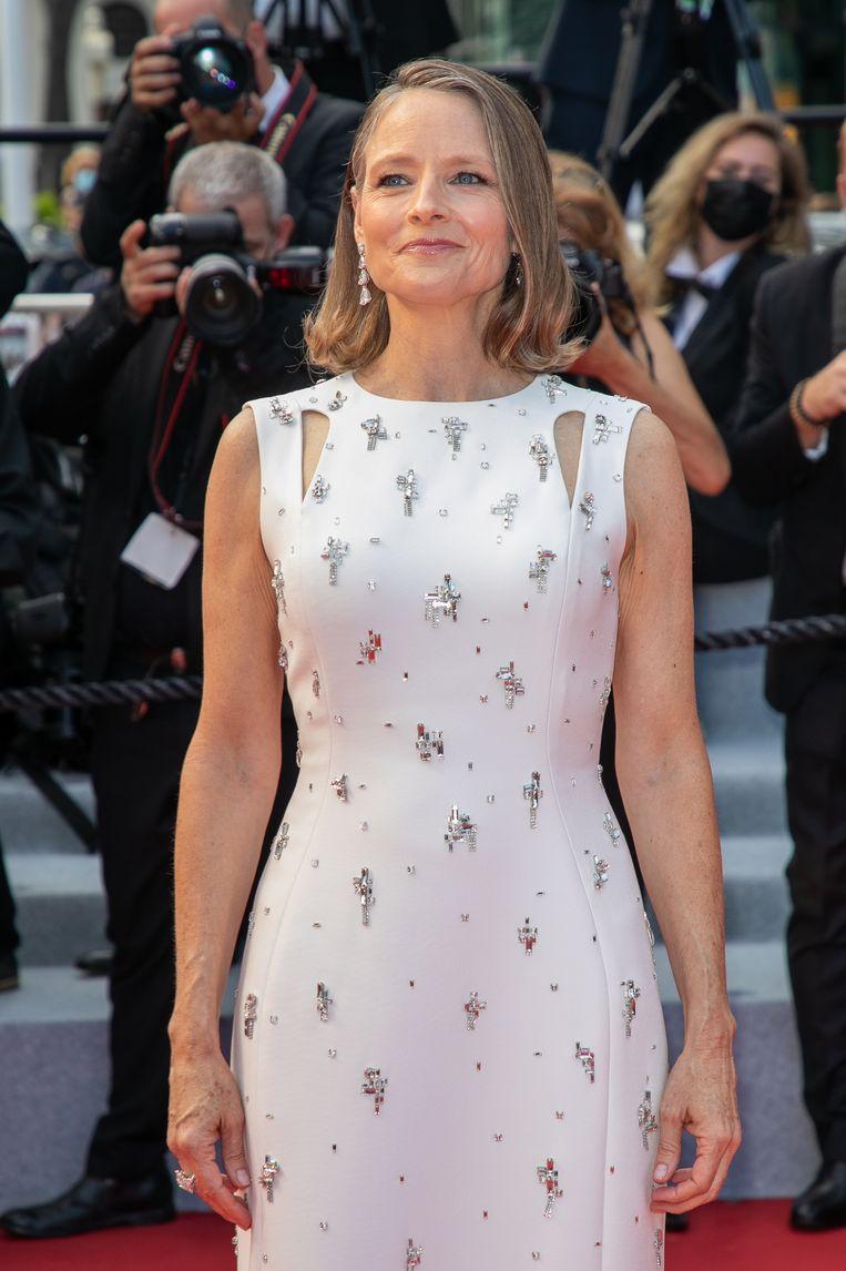 Eregast Jodie Foster bij de première van Annette.  Beeld FilmMagic
