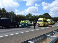 Flinke files op A2 na ongeluk bij Leende; alle rijstroken weer vrij