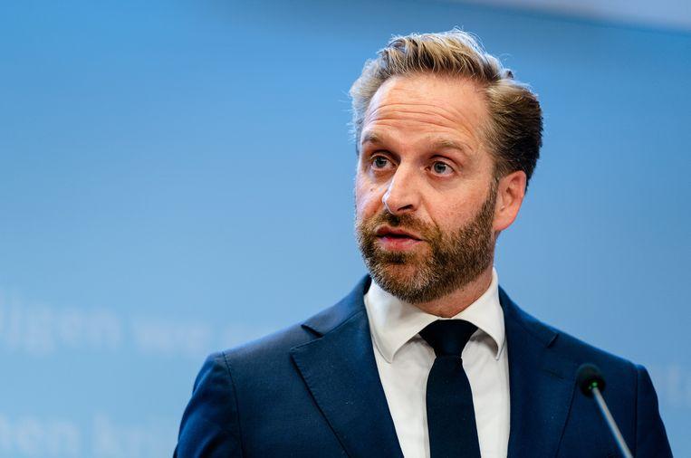 Demissionair minister Hugo de Jonge van Volksgezondheid, Welzijn en Sport Beeld ANP