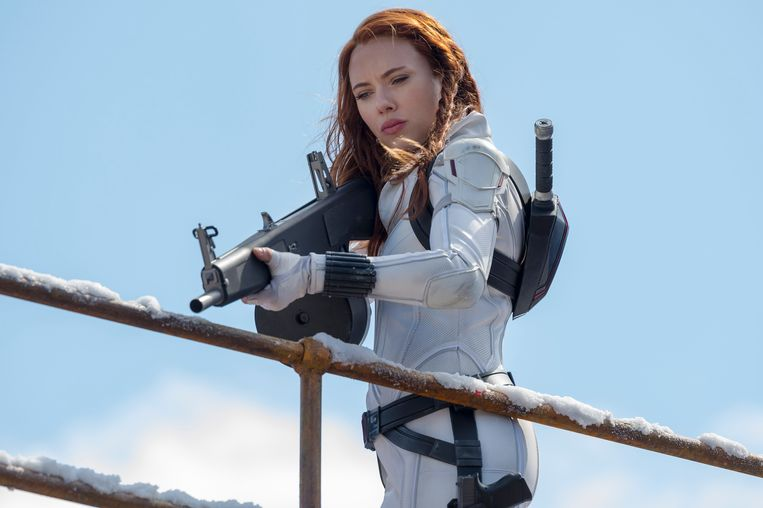 Scarlett Johansson als Black Widow (Natasha Romanoff) in de gelijknamige film. Beeld Photo News