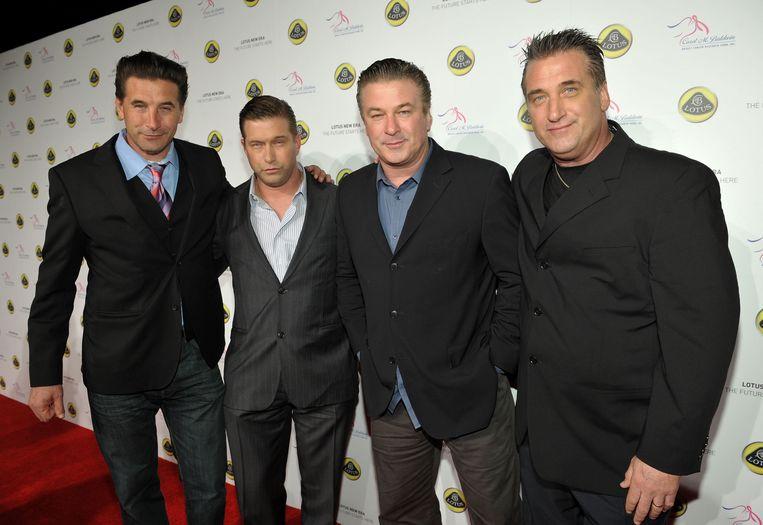 De broertjes Billy, Stephen, Alec en Daniel Baldwin