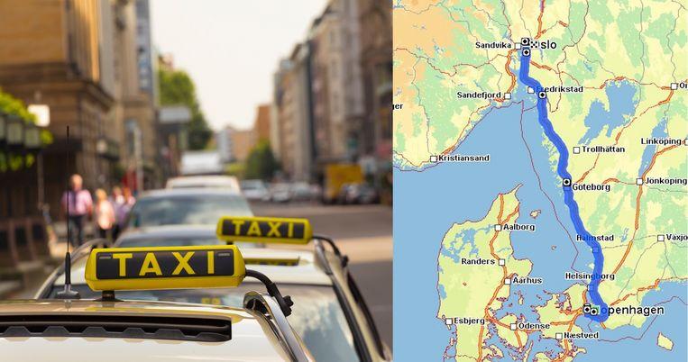 De rit ging vanuit Kopenhagen (Denemarken) via Göteborg (Zweden) naar Oslo (Noorwegen).