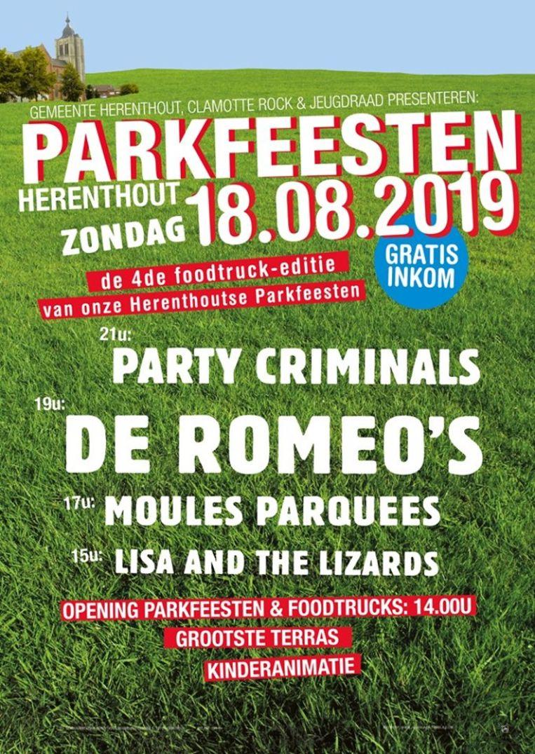 De affiche van de Herenthoutse Parkfeesten