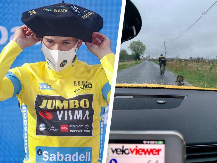 Primoz Roglic kroonde zich zaterdag als eindwinnaar van de Ronde van het Baskenland, zo'n 15 uur later verkende hij in hondenweer de slottijdrit van de Tour.