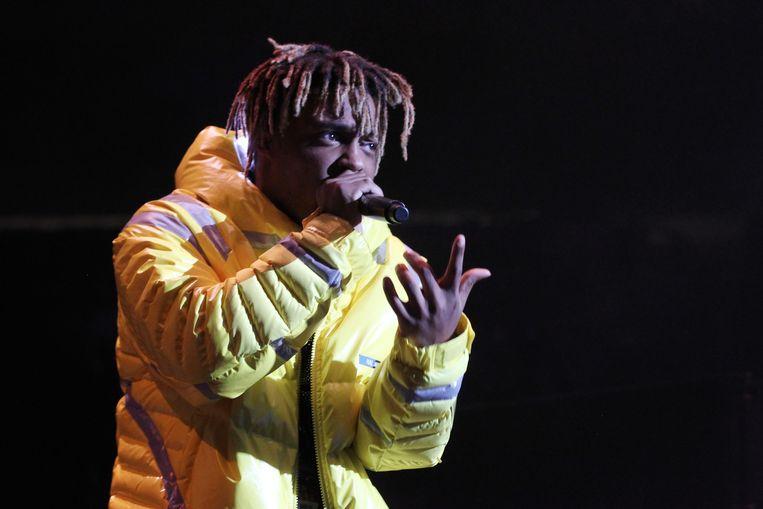 Rapper Juice WRLD, alias van Jarad Higgins, die vorig jaar op 21-jarige leeftijd overleed.  Beeld AFP