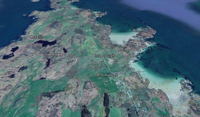 Het eilandje Gigha voor de kust van Schotland.