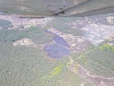 Beelden uit vliegtuig tonen schade door aangestoken branden op Veluwe