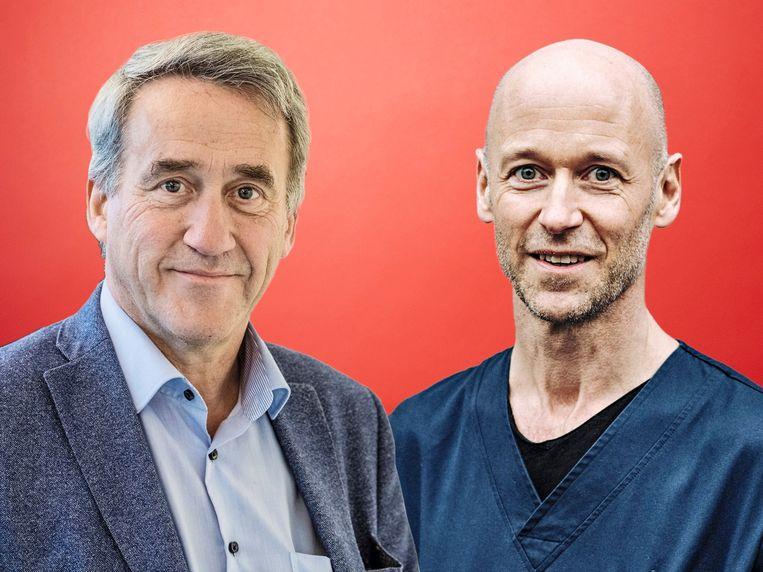 Frank Vermassen (l) en Geert Meyfroidt. Beeld rv/switn