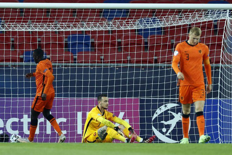 Florian Wirtz scoorde in de eerste acht minuten twee keer. Perr Schuurs deed na 67 minuten iets terug, maar daar bleef het bij. Beeld ANP