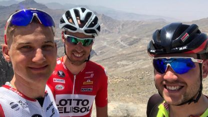"""Tim Wellens maakte in bloedheet Dubai verder werk van hitteprobleem: """"Beter voorbereid naar de Tour"""""""