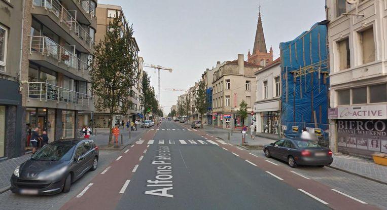 De Alfons Pieterslaan in Oostende, waar de drugsbende een appartement huurde. Beeld Google Maps