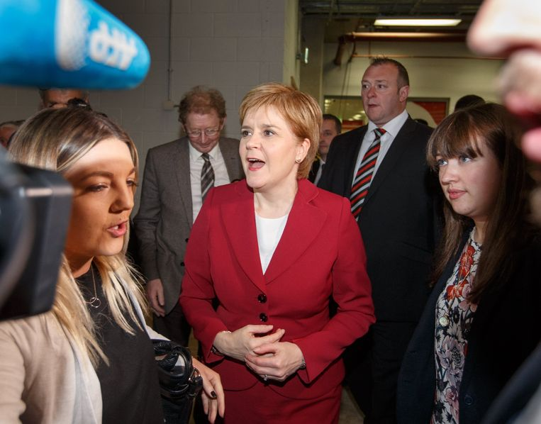 Nicola Sturgeon, leider van de SNP. Beeld EPA