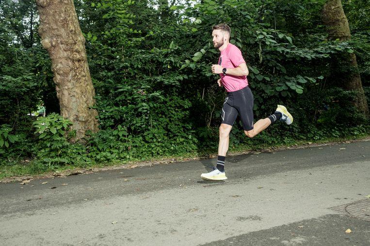 Jake Catteralls verste loop was 200 kilometer. 'Het maximum van een ander is niet het maximum voor mij.' Beeld Jakob van Vliet