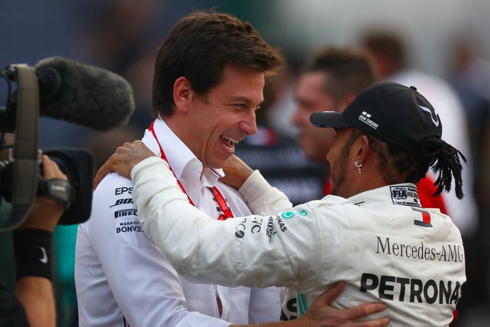 Toto Wolff en Lewis Hamilton