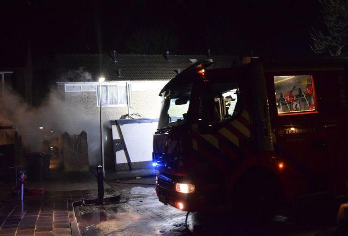 Schuur in brand in Doetinchem.