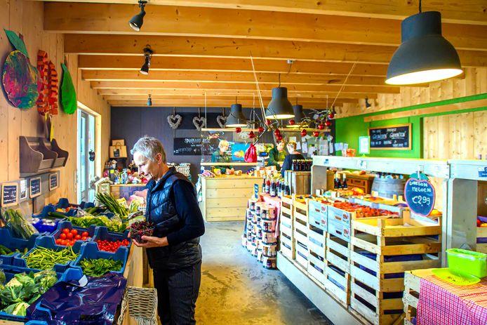 Een boerderijwinkel in Fijnaart.