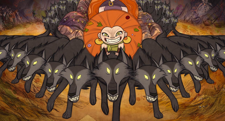 Wolfwalkers. Beeld rv