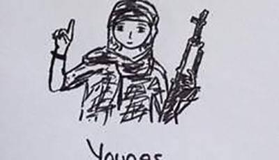 Un dessin de Younes Abaaoud fait par Eveliina.