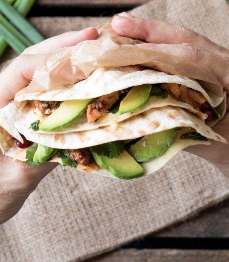 Wat Eten We Vandaag: Gegrilde quesadilla met avocado