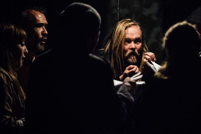 'Curator in residence' Björn Schmelzer, met zijn ensemble Graindelavoix. Beeld Markus Werner