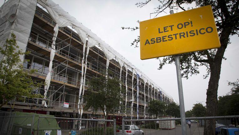 De gezinnen uit de Utrechtse 'asbestwijk' Kanaleneiland die al vanaf juli op een tijdelijk adres wonen, mogen half januari volgend jaar terug naar huis. Beeld ANP