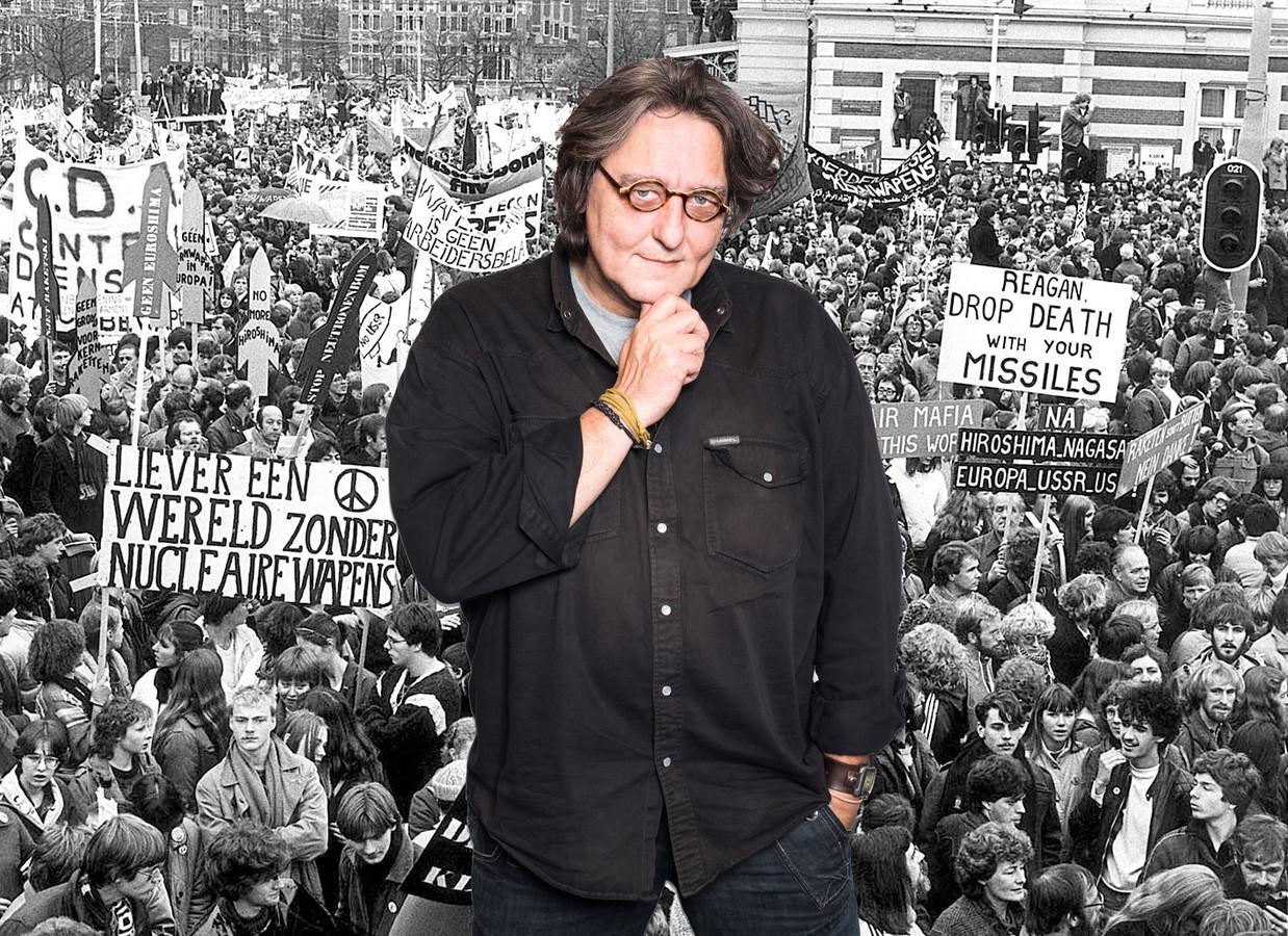 Kees Thies over de vredesdemonstratie in 1981 in Amsterdam en Bevrijdingsdag.
