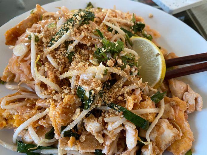 De Pad Thai met kip was heel lekker.