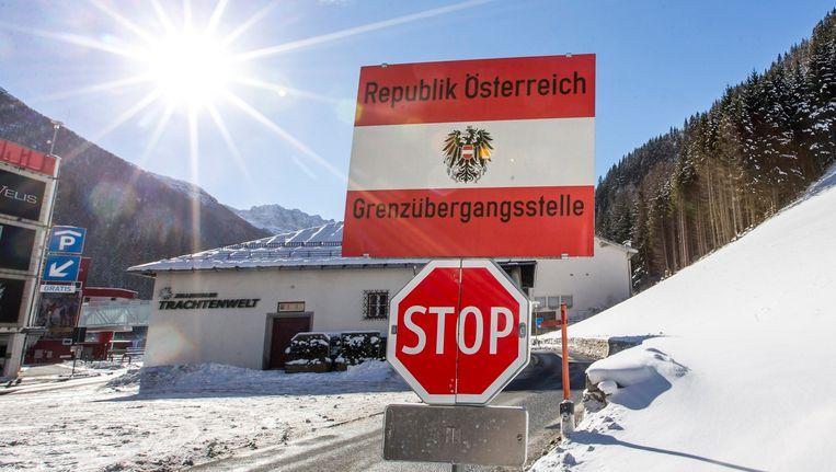 De grensovergang aan de Brennerpas aan de Oostenrijkse zijde.
