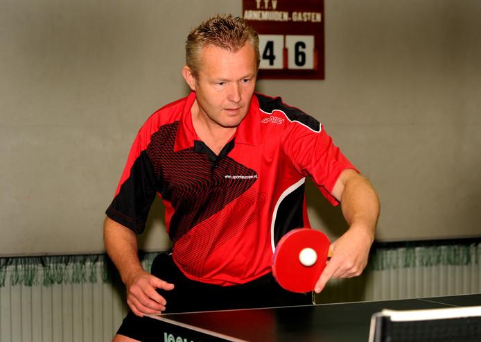 Jan Henk Bomhof speelde zaterdag weer 's mee in het eerste van TTC Middelburg.