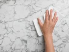 Zo maak je een keuken met marmer aanrechtblad (of gootsteen) schoon
