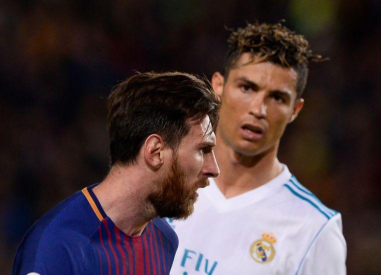 Cristiano Ronaldo en Lionel Messi.  Beeld AFP
