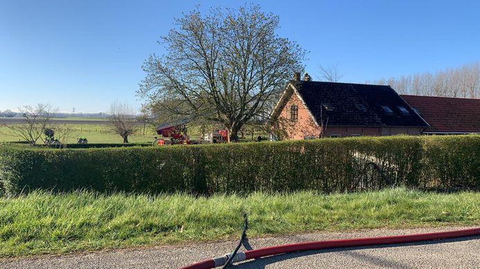 In de schoorsteen van een woning in Heinkenszand is brand ontstaan.