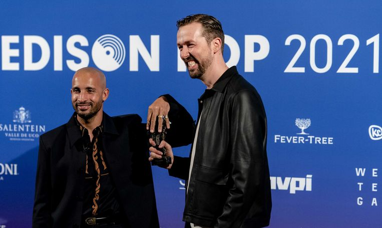 Het rapduo The Opposites krijgt dit jaar de Edison Pop Oeuvreprijs. Beeld ANP