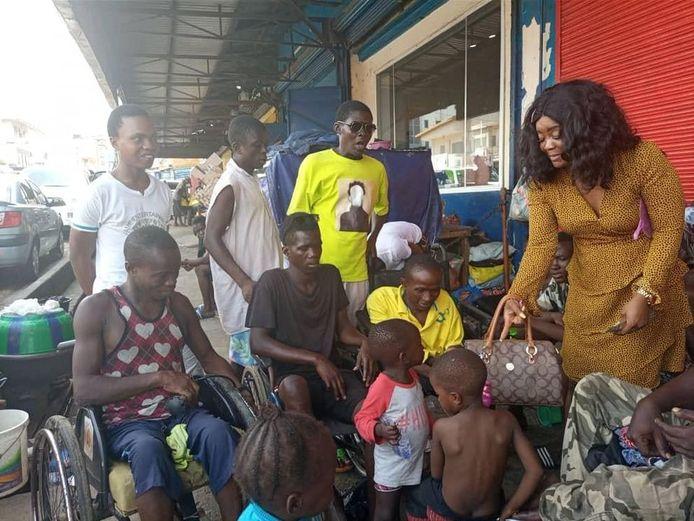 De rolstoelen kwamen begin deze maand aan in Sierra Leone