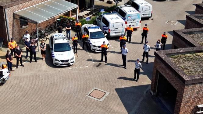 Politie Getevallei hield minuut stilte voor slachtoffers watersnood